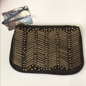 URBAN OUTFITTERS Grey Bronze Wallet Clutch